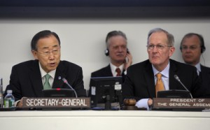 SG Ban Ki-moon and GA President Joseph Deiss